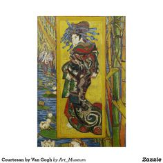 The Courtesan illustrates Van Gogh's interest in Japan and Japanese prints. He based his painting on a work by the Japanese artist Kesai Eisen. Courtesy of the van Gogh Museum, Amsterdam. Vincent Van Gogh, Van Gogh Museum, Art Van, Renoir, Post Impressionism, Impressionist, Canvas Art, Canvas Prints, Art Prints