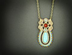 Hey, I found this really awesome Etsy listing at https://www.etsy.com/listing/227396885/hazel-soutache-pendant-turquoise-pendant