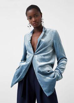 Samt-blazer - Jacken für Damen | MANGO Deutschland