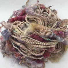 """""""Carnival"""" hand spun art yarn"""