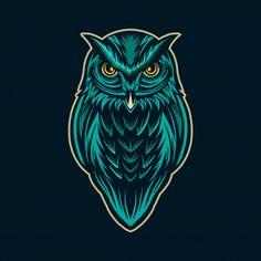 Owl character artwork isolated Premium V. Owl Vector, Vector Art, Iphone Wallpaper Smoke, Beautiful Wallpaper For Phone, Owl Tattoo Drawings, Small Phoenix Tattoos, Owl Artwork, Owl Logo, Lion Painting