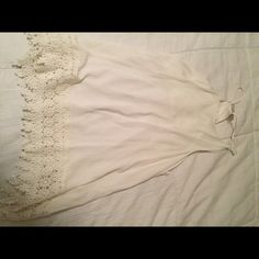 Crochet edge tank White tank with lace Tops Tank Tops