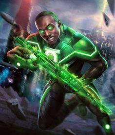 Green Lantern from Injustice 2 Mobile Green Lantern 9 Green Lantern Powers, Green Lantern Corps, Green Lanterns, Injustice 2 Characters, Dc Characters, Superman, Batman, Aquaman Injustice, Comic Books Art