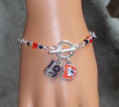 Denver Bronco Peyton Manning Inspired A Man for all Seasons Crystal Charm Bracelet - yo quero