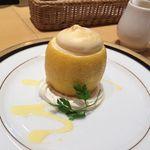 マルゼンカフェ - 檸檬。レモンのムースが中に入ってます。