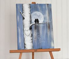 Personalisierte Leinwand Gemälde Aspen Baum von LindaFehlenGallery