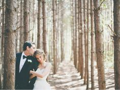 forest wedding photos. I really like this!