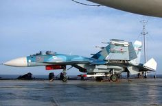 Su-33 on Admiral Kuznetsov aircraft carrier