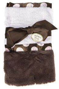 Bearington Baby - Posh Dots Security Blanket (Pink). Available at OurPamperedHome.com