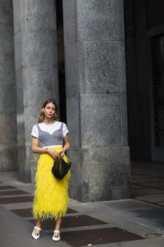See more of the best street style from Milan Fashion Week.