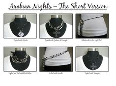 Arabian Nights - so versatile.  This necklace can really help you extend your wardrobe and your jewelry collection :)