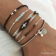 * Diamond Bracelet – Dark Brown: € * Mint Green Sparkles: € * Beaded Bracelet 'Enchanted Forest': € * Little Cubes – Colorful Brown: € * Swarovski Mint & Grey Mist: € Total: € = € Punk Jewelry, Bead Jewellery, Hippie Jewelry, Diy Jewelry, Beaded Jewelry, Jewelry Making, Skull Jewelry, Yoga Jewelry, Tribal Jewelry
