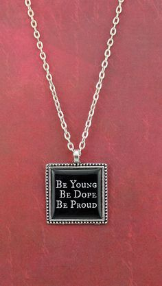 Lana Del Rey Lyric Necklace  American  Be by ShakespearesSisters, $9.00