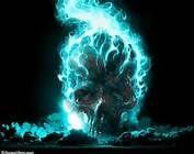 blue fire blue flame Blue skull higher resolution Abstract Fantasy HD Art blue flames blue fire its so cool blue flame flamin skull Dark Fantasy Art, Dark Art, Scary Wallpaper, Skull Wallpaper, Hd Wallpaper, Portal Wallpaper, Batman Wallpaper, Wallpaper Ideas, Ghost Rider