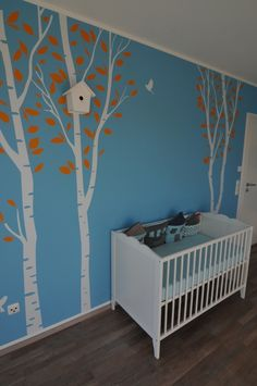 The baby& room is going to be super bright. I might want to go with white furniture to tone it down a bit. Kids Wall Decor, Diy Wall Art, Baby Bedroom, Kids Bedroom, School Murals, Baby Zimmer, Kids Room Design, Baby Art, Room Wallpaper