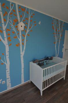 Friendly Forest - Vogelhaus, Tags Babyzimmer + Vogelhaus aus Holz
