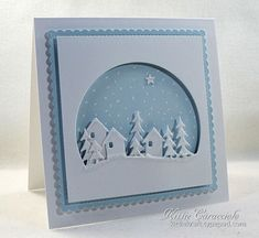 card christmas house cottage in the woods tree trees snowdrift landscape This is for FS504 and Candee Porter Christmas card