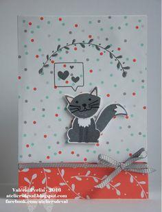 Les Ateliers de Val: Carte chat ;)