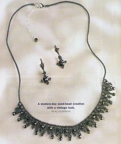 Best 12 Beautiful beaded necklaces – Page 561753753517050882 Seed Bead Necklace, Beaded Earrings, Beaded Bracelets, Jewelry Crafts, Handmade Jewelry, Ideas Joyería, Necklace Tutorial, Beaded Jewelry Patterns, Beading Patterns