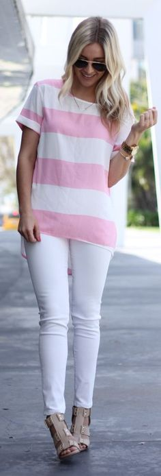Striped Top Outfit Idea #what_to_wear_pants #fashion #female #women #lady #femininity #couture #elegant #chic #street_style #business #homecoming #outfit #casual #must_have #readytowear #high_heels #boots #leather #ethnic
