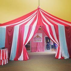if there ever is a vbs circus theme! Creepy Carnival, Circus Carnival Party, Circus Theme Party, School Carnival, Carnival Birthday Parties, Circus Birthday, Party Themes, Circus Theme Classroom, Vintage Circus Party