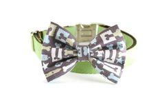 Dog Collar Bow Tie  Mod dog by DanesAndDivas on Etsy, $16.00