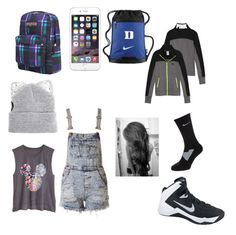 """6 to 7th hour school classes"" by kkhloe13 ❤ liked on Polyvore featuring JanSport, Silver Spoon Attire and NIKE"