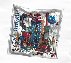 Scarves Hermès White - Silk Twill - Scarves 90 - Women | Hermès, Official Website    This will do