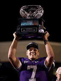 Collin Klein with 2012 Big 12 Trophy