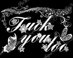 """Fuck Coloring Book """"Fuck you too"""" fuck you curse by PicToGraphique on Etsy #colouringbook #arttherapy #swearinggift#adultcoloringpages#swearingword #fuckyou#vulgar#slang#coloringpage #adults#xxx#colouringpage#curse #swearywords#badword #rude#book"""