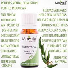 Eucalyptus Essential Oil, Essential Oils, Decongestant, Hydrate Hair, Insect Bites, Nerve Pain, Meraki, Deodorant, Allergies