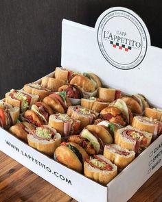 Cloud kitchen packaging & brandingYou can find Sandwich bar and m. Sandwich Bar, Sandwich Platter, Sandwich Catering, Picnic Sandwiches, Gourmet Sandwiches, Sandwich Shops, Finger Food Catering, Catering Food, Catering Display