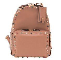 Le sac à dos Valentino en cuir orné de clous bientôt disponible sur notre site ! www.leasyluxe.com #backpack #luxe #leasyluxe