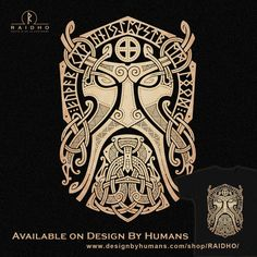 THOR.GODMASK. Knotwork T-Shirt by RAIDHO