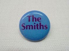 Vintage Early 90s The Smiths Logo Blue Pin / Button / Badge - Morrissey / Johnny Marr by beatbopboom on Etsy