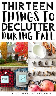 The same way Spring feels refreshing every year, fall has that very same effect. As the leaves change so do we. We start to open up those windows, get excited for the holidays, and then we realize there are few things we should declutter during fall… #ladydecluttered #declutteryourhome #falldeclutter #declutteringideas #declutteringandorganizing Living On A Budget, Simple Living, Diy Cleaning Products, Cleaning Hacks, Decluttering Ideas Feeling Overwhelmed, Declutter Your Mind, Clutter Free Home, Food Themes, Organizing Your Home