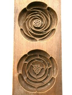 Vintage Japanese Kashigata/Sweet Mold - Flowers motif