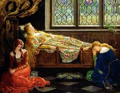 The Sleeping Beauty. John Collier, 1921.