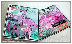 Mixed Media cards with TCW stencils