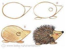 Apprendre à dessiner aux enfants, étape par étape! 17 animaux faciles à dessiner à partir d'ovales! – Trucs et Bricolages - Monde Des Animaux Drawing Lessons, Drawing Techniques, Drawing Tips, Art Lessons, Drawing Ideas, Doodle Drawings, Animal Drawings, Doodle Art, Easy Drawings