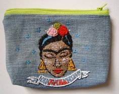 "Zipper pouch, ""Frida"", Frida collection"
