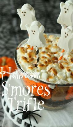 Half Baked: Halloween PEEPS S'mores Trifle
