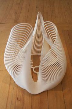 Studiolluminaire_nylon 3D printed shade
