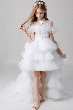 Layered Flower Girl Dress - health and fitness - Little Girl Wedding Dresses, Cute Flower Girl Dresses, Cute Dresses For Party, Gowns For Girls, Dresses Kids Girl, Princess Dresses For Girls, Dresses For Children, Dresses For Parties, Dress For Party