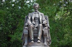 seated Abraham Lincoln, Newark  http://www.carltonleisure.com/travel/flights/first-class/united-states/newark/edinburgh/