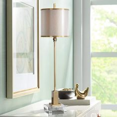 Uttermost Villena Plated Brass Table Lamp - #4T028 | Lamps Plus