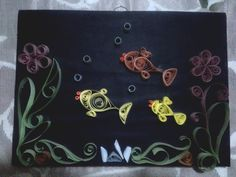 Paper quilling art - Fish Aquarium