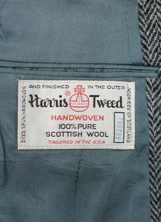 Vintage Clothing Label - Harris Tweed Blazer