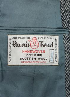 Vintage Clothing Label - Harris Tweed Blazer