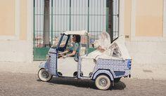 5 carros de noivos diferentes. #casamento #transporte #carrodosnoivos #mota #azulejosportugueses